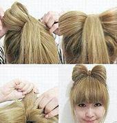 蝴蝶结款的发型