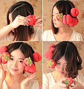 零伤发草莓卷发教程