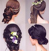 美美的新娘的盘发