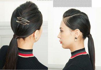 头发多的直发怎样扎好看 自己可以扎的简单直头发扎法
