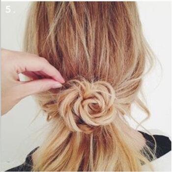 如何在头发后面扎一小个麻花 头发背后扎麻花