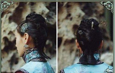 用插梳梳发型图解 清朝女子的发型梳法