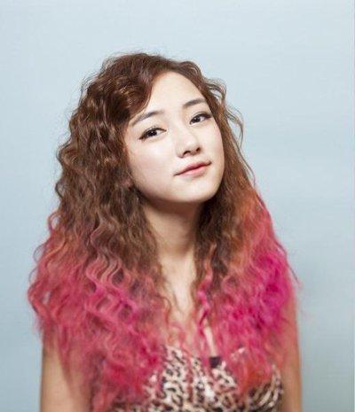 彩色长头发图片 长头发的颜色图片