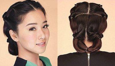 如何使用日韩盘发器盘头发 日韩简单的扎头发方法