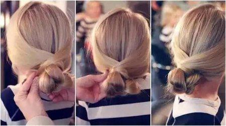 简单易学的日常发型有分解步骤图片的 儿童日常发型