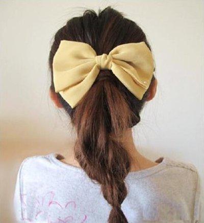 头发厚的女生适合什么学生马尾 马尾头发步骤图片