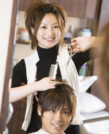 女美发师的发型服装图片 发型师衣服图片