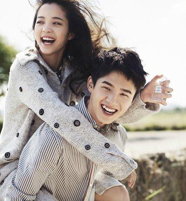 鲜肉小花带你学习情侣模式 刘昊然欧阳娜娜杂志写真