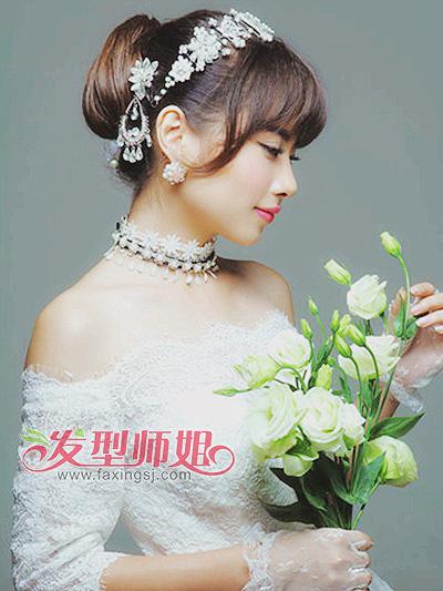 完美形象为你私人定制 唯美新娘发型合集