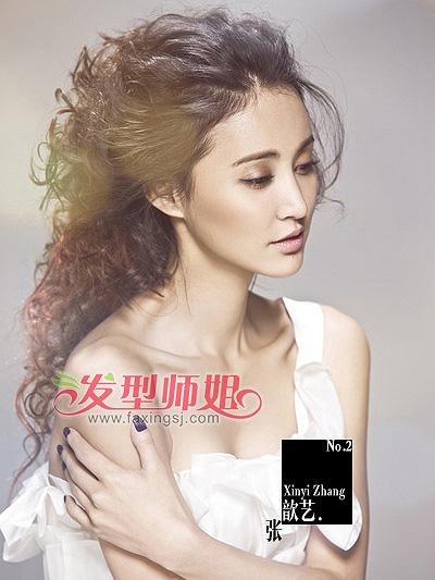 人气女王张歆艺 演绎精致瓜子脸发型