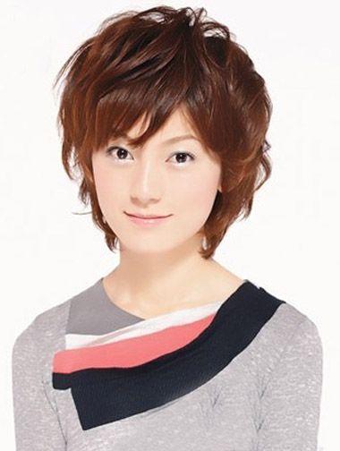 女士发型纹理烫短发 女生纹理烫短发发型图