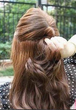 女生盘头发发型步骤 怎样盘甜美公主头
