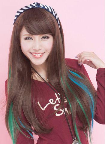 发尾挑染红色头发_直发挑染那个位置好看 长直发挑染什么颜色低调(4)_发型师姐