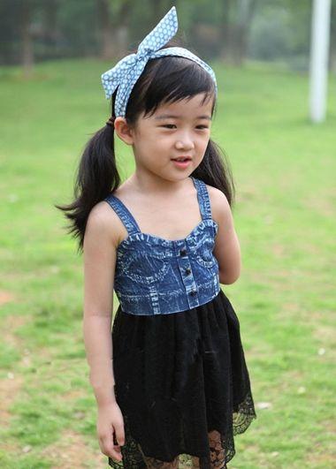 斜刘海直发发型扎法_2016女童发型设计 儿童发型扎法图解_发型师姐