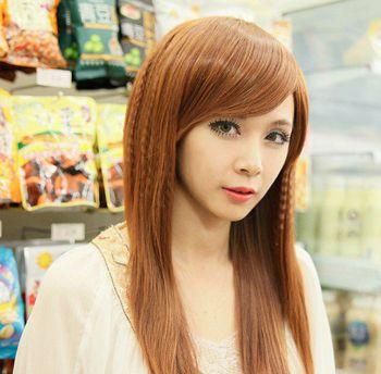 女生斜刘海可爱发型 2016可爱女孩发型图片