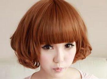 适合圆脸的短发发型 圆脸女生时尚短发发型图片