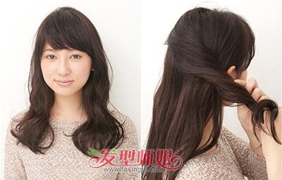 正方脸怎么扎头发好看 方脸女生扎头发发型DIY