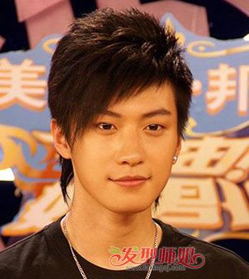 斜刘海沙宣发型_男性短发非主流图片 非主流男生短发(2)_发型师姐