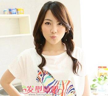 方形脸适合中分吗_方形脸适合把刘海扎起来吗正方形脸扎发发型图片(4)_发型师姐