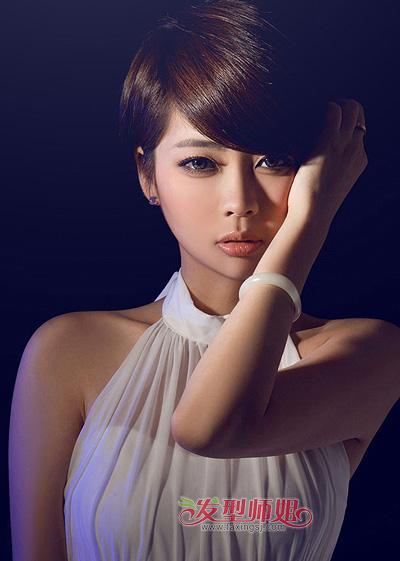 椭圆脸型适合的刘海_最近流行的女士长方脸短发发型 好看的适合长脸女生的短发发型 ...