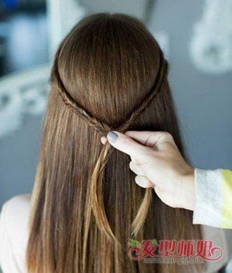 编辫子步骤图_长发双鱼尾辫子发型扎法步骤 鱼尾辫发型扎法图解(3)_发型师姐