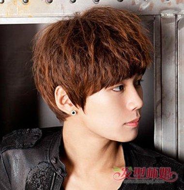 男生玉米烫发型 烫头发的男生发型