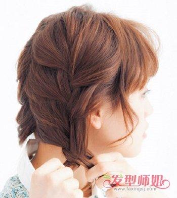 长头发简单扎法图解_学生编头发的步骤及图片 中学生头发编法_发型师姐