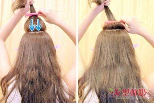 中长发怎样扎荷包 扎头发荷包头图解