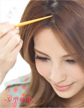 大脸女孩头发少应该梳什么发型 头发少脸大的发型扎法图解