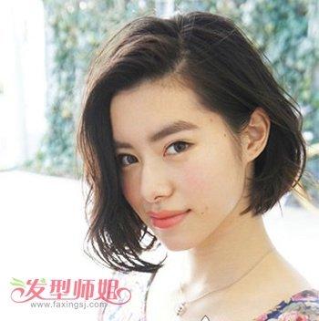 脸大头发少适合剪什么短头发好看 大脸发量少适合的短发发型图片