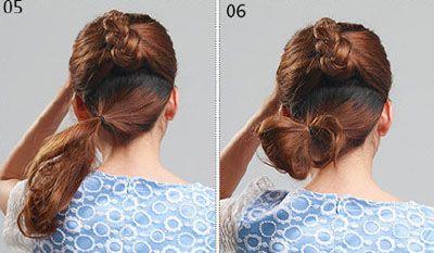 短发新娘怎么盘头_方脸女孩怎样盘头 方形脸适合盘发吗(2)_发型师姐