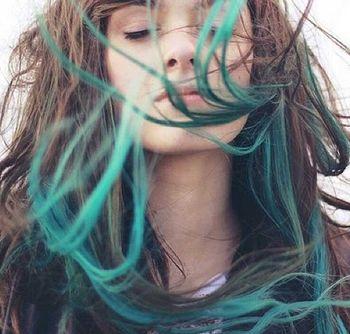 长发头后面不染自己怎么弄 长发个性染发发型图片