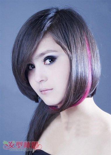 女短发烫发发型_黑头发下面染红色的是什么样子 短发染色如何选择颜色_发型师姐