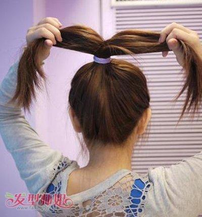 短发怎么扎简单漂亮花苞头