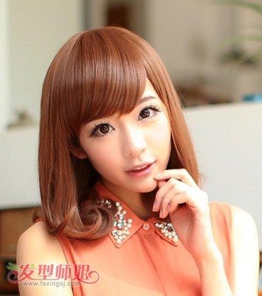 2017年长脸型适合的短发型 女生长脸短发发型