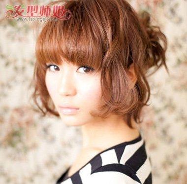 酷酷的发型丸子头 韩式短发丸子头发型扎法