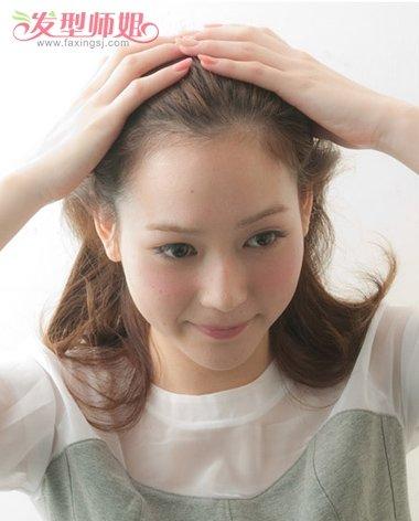 长脸的最简单丸子头发型 蓬松丸子头发型