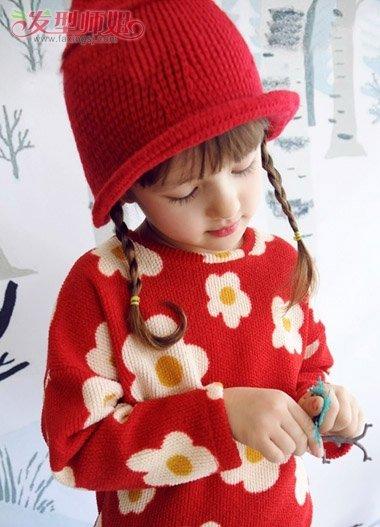 小孩子应该怎样编头发 冬季简单女孩编头发图解