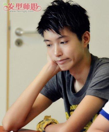 男生刘海是尖的发型 中学生发型解析・刘海