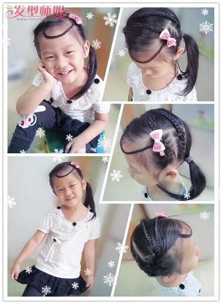 怎么给小女孩编长头发 小女孩编头发的步骤