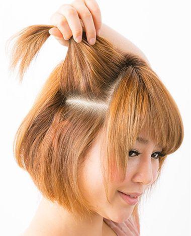 斜刘海直发发型扎法_怎样编短发辫子发型图解 3根短发编发发型扎法_发型师姐