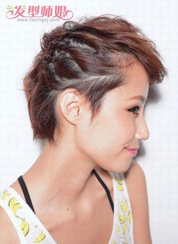 好看的短发女生编辫子发型 发型屋女生短发编发