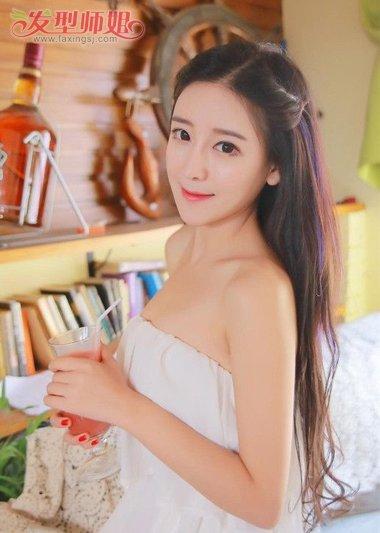 无刘海长发怎么绑好看 无刘海绑头发的方法