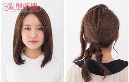 初中女生怎样盘头发简单好看 初中生盘头发