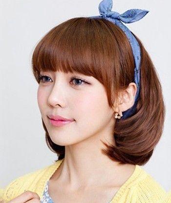 韩式齐刘海短卷发_怎么烫韩式斜刘海发型 烫韩式斜刘海发型图片(2)_发型师姐
