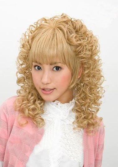 女士短发小卷图片_长发烫发小螺丝发型 螺丝烫发发型图片_发型师姐