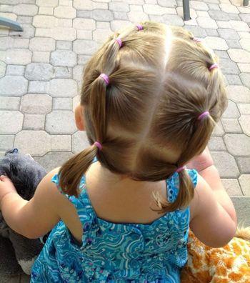 给3岁女孩扎辫子发型 小孩扎辫子发型图片