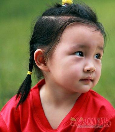 儿童短发编发发型大全 小朋友编小辫子的发型