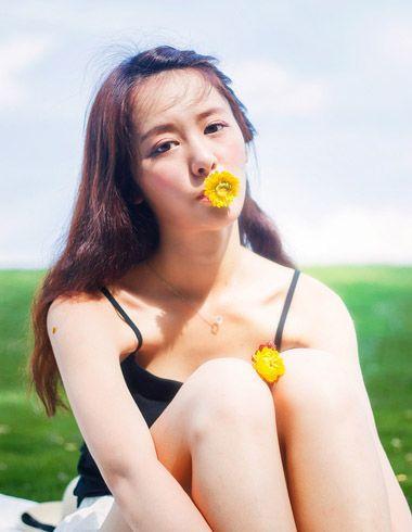 女士韩式中长发烫发发型 韩国烫发中大卷发型图片