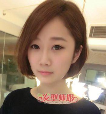 适合胖圆脸的短发 适合胖女孩的短发图片